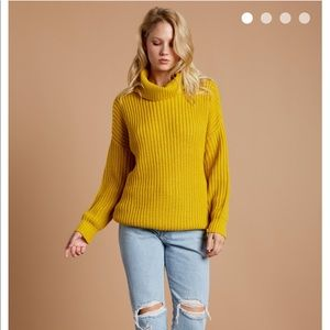 Knit Sweater - Mustard